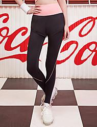 ราคาถูก -สำหรับผู้หญิง กางเกงโยคะ กีฬา Elastane ถุงน่องการขี่จักรยาน วิ่ง การออกกำลังกาย ยิมออกกำลังกาย ชุดทำงาน Moisture Wicking แห้งเร็ว ความยืดหยุ่นสูง สกินนี่