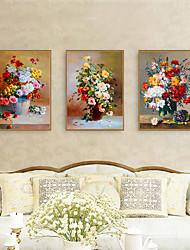 Недорогие -Отпечаток в раме Набор в раме - Цветочные мотивы / ботанический Полистирен Иллюстрации Предметы искусства