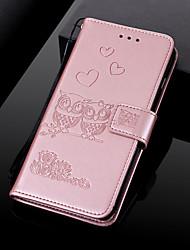 Недорогие -чехол для яблока iphone xs / iphone xs макс с тиснением / флип / с подставкой чехлы из натуральной кожи сова для iphone xs макс хр хз х 8 плюс 8 7 плюс 7 6 с плюс 6 с 6