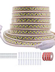 Недорогие -KWB 20 м блеск декор светодиодные полосы света 220 В гибкий водонепроницаемый канатные светильники 5730 10 мм 3600 светодиодов для внутреннего наружного коммерческого освещения украшения