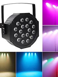 abordables -1 set led stage light 18 perle par lumière polychrome coloration lumière dmx512 contrôle sonore clair fond dj bar salle de bal décoration lumière