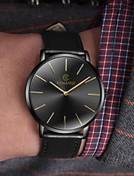 Недорогие -Муж. Нарядные часы Кварцевый Кожа Черный / Коричневый Повседневные часы Аналоговый Мода минималист Простые часы - Черный / Синий Черный / Золотистый Белый / Бежевый Один год Срок службы батареи