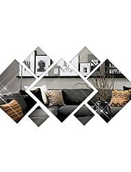 Недорогие -3d мода алмазов декоративные зеркала настенные наклейки - зеркальные настенные наклейки формы кабинет / офис / столовая / кухня