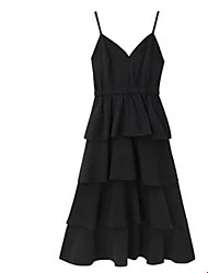 hesapli -Kadın midi kılıf elbise askısı beyaz siyah s m l