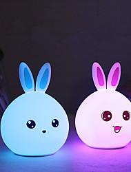 billige -1pc Nursery Night Light / Smart Night Light Usb For Børn / Genopladelig / Farveskiftende 5 V