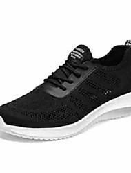 halpa -Miesten Comfort-kengät Silmukka / Tissage Volant Kesä Urheilullinen Urheilukengät Jouksu Non-liukastumisen Musta / Harmaa