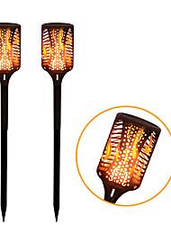 Недорогие -99 светодиодный водонепроницаемый ip65 солнечный свет факела танцы мерцающий садовый фонарь факел свет пламени лампы открытый светодиодный светильник сад путь