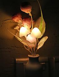 Недорогие -1 шт. Ес вилка из светодиодов новинка свет гриб цветок тюльпана датчик света ночник украшения дома романтическая детская спальня