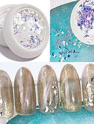 billige -1 pcs Farveskiftende / Bedste kvalitet / Slankt design Plastik Pailletter Til Fingernegl Mode Kreativ Negle kunst Manicure Pedicure Daglig Stilfuld / Romantik