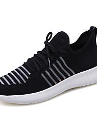 Недорогие -Муж. Комфортная обувь Tissage Volant Лето На каждый день Спортивная обувь Для прогулок Дышащий Черный / Белый