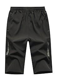 abordables -Hombre Deportivo Pantalones de Deporte Pantalones - Un Color Negro