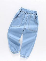 abordables -Enfants Garçon Basique / Chic de Rue Couleur Pleine Coton Jeans Bleu