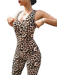 Недорогие -Жен. Ромпер Тренировочный комбинезон Леопард Йога Фитнес Боди Спортивная одежда Легкость Дышащий Эластичность
