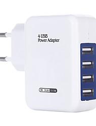 Недорогие -Портативное зарядное устройство Зарядное устройство USB Евро стандарт Несколько разъемов 4 USB порта 3 A DC 5V для S8 Plus / S8 / S7 edge