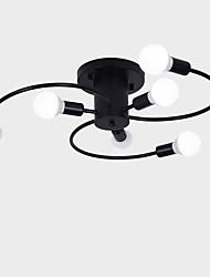 levne -6-Světlo Průmyslový Vestavěná světla Tlumené světlo Malované povrchové úpravy Kov Nový design 110-120V / 220-240V