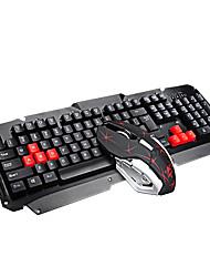 Недорогие -litbest km061 2,4 г беспроводная игровая клавиатура и мышь комбо 800/1200/1600 точек на дюйм 5 кнопок мыши и мультимедийная клавиатура
