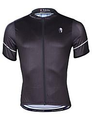 Недорогие -ILPALADINO Муж. С короткими рукавами Велокофты Черный Сплошной цвет Велоспорт Верхняя часть Устойчивость к УФ Дышащий Влагоотводящие Виды спорта Эластан Терилен Горные велосипеды Шоссейные велосипеды