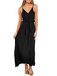 preiswerte -Damen Grundlegend Hülle Kleid - Rückenfrei, Solide Maxi