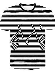 abordables -Hombre Estampado Camiseta Bloques / 3D / Gráfico Blanco XXXXL