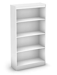 Недорогие -белый книжный шкаф с 4 полками с 2 регулируемыми полками