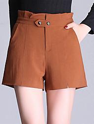 levne -Dámské Základní Kraťasy Kalhoty - Jednobarevné Černá