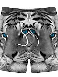 halpa -Miesten Urheilullinen / Perus Shortsit Housut - 3D Print Harmaa
