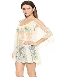 preiswerte -Damen Tunika Kleid - Rückenfrei Quaste Patchwork Mini