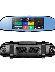 Недорогие -PHISUNG C08 1080p Full HD / с задней камерой / Загрузочная автоматическая запись Автомобильный видеорегистратор 140° Широкий угол КМОП-структура 7 дюймовый IPS / LED Капюшон с GPS / G-Sensor