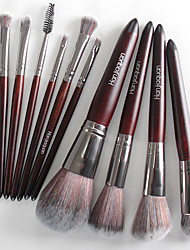 abordables -Profesional Pinceles de maquillaje 11pcs Cobertura completa Confortable Madera / Bambú para Brocha de maquillaje