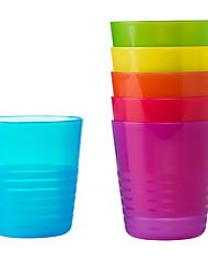 levne -6ks kalas duha barevný hrnek plastový kelímek pro party cestování venkovní kluk