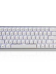 Недорогие -AJAZZ Zinc Беспроводная связь Bluetooth 2,4 ГГц USB Dual Mode Механическая клавиатура Игровые клавиатуры Cherry MX Перезаряжаемый Светящийся Белый с подсветкой 68 pcs Ключи