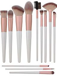 abordables -Profesional Pinceles de maquillaje 16pcs Cobertura completa Confortable Pincel de Fibra Artificial Madera / Bambú para Brocha de maquillaje