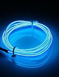 cheap -1set 3m Car 12V LED Cold Lights Flexible EL Neon Wire Auto Lamps On Car Cold Light Strips Line Lnterior Decoration Strips Lamps Lights Flexible Neon