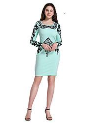 cheap -Women's Sheath Dress Light Green L XL XXL