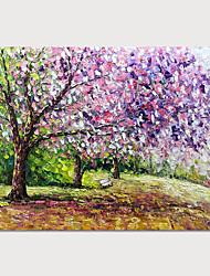 tanie -Hang-Malowane obraz olejny Ręcznie malowane - Krajobraz Nowoczesny Zwinięte płótna