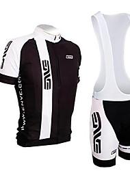Недорогие -2019 новый костюм с короткими рукавами, майка / велосипед для мужчин и женщин с короткой влагопоглощающей силиконовой подушкой