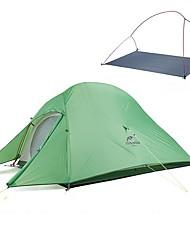 Недорогие -Naturehike 2 человека Световой тент На открытом воздухе Сохраняет тепло Складной 4 Сезон Двухслойные зонты Палатка для Походы