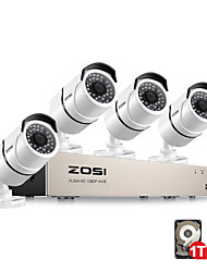 cheap -ZOSI 8CH POE NVR 1080P IP Network POE Video Record IR-CUT Outdoor CCTV Security Camera System Home Video Surveillance NVR Kit With 1TB Hard Disk Pre-inserted