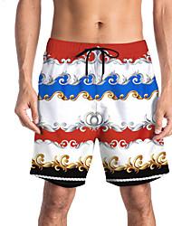 halpa -Miesten Urheilullinen / Perus Chinos housut / Shortsit Housut - Painettu / Patterned / 3D Print Sateenkaari
