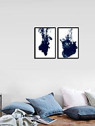 Недорогие -С принтом - Абстракция Алюминиевый сплав Масляные картины Предметы искусства