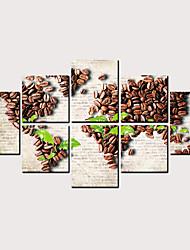 Недорогие -С картинкой Роликовые холсты - Абстракция Продукты питания Классика Modern Репродукции