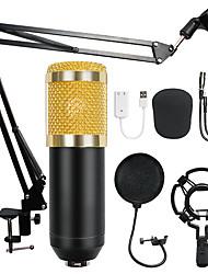 Недорогие -Конденсатор аудио bm-800 3,5 мм проводной студийный микрофон для записи вокала KTV караоке микрофон комплект микрофон с подставкой для компьютера
