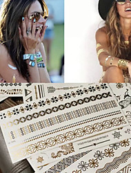 cheap -1 pcs Temporary Tattoos Eco-friendly / Water Resistant / Classic Face / Body / brachium Sheathing Paper Metallic Tattoo