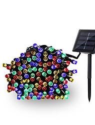 baratos -12m Cordões de Luzes 100 LEDs EL 1Setar o suporte de montagem Multicolorido Impermeável / Solar / Decorativa 4 V 1conjunto