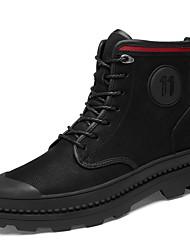 Недорогие -Муж. Кожаные ботинки Наппа Leather Зима Классика / На каждый день Ботинки Для прогулок Сохраняет тепло Ботинки Черный / на открытом воздухе / Офис и карьера / Fashion Boots / Армейские ботинки