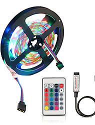 Недорогие -ZDM 5 В 2 м USB питание от smd 120 x 2835 8 мм цвет светодиодные полосы с 24 клавишами ик-пульт дистанционного управления для ТВ фоновое освещение ПК ноутбук украшения дома