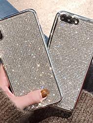 billige -CISIC Etui Til Apple iPhone XR / iPhone XS Max Stødsikker / Vandafvisende / Rhinsten Bagcover Ensfarvet Blødt TPU for iPhone XS / iPhone XR / iPhone XS Max