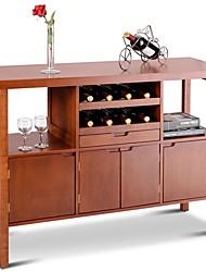 Недорогие -современный буфет буфет с винной стойкой из коричневого дерева
