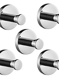 cheap -Robe Hook New Design / Creative Traditional / Modern Stainless Steel / Stainless steel / Metal 5pcs - Bathroom Wall Mounted