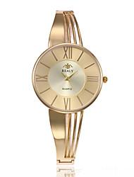 preiswerte -Damen Quartz Uhr Freizeit Modisch Silber Gold Rotgold Edelstahl Chinesisch Quartz Gold Silber Rotgold Niedlich Kreativ Armbanduhren für den Alltag 1 Stück Analog